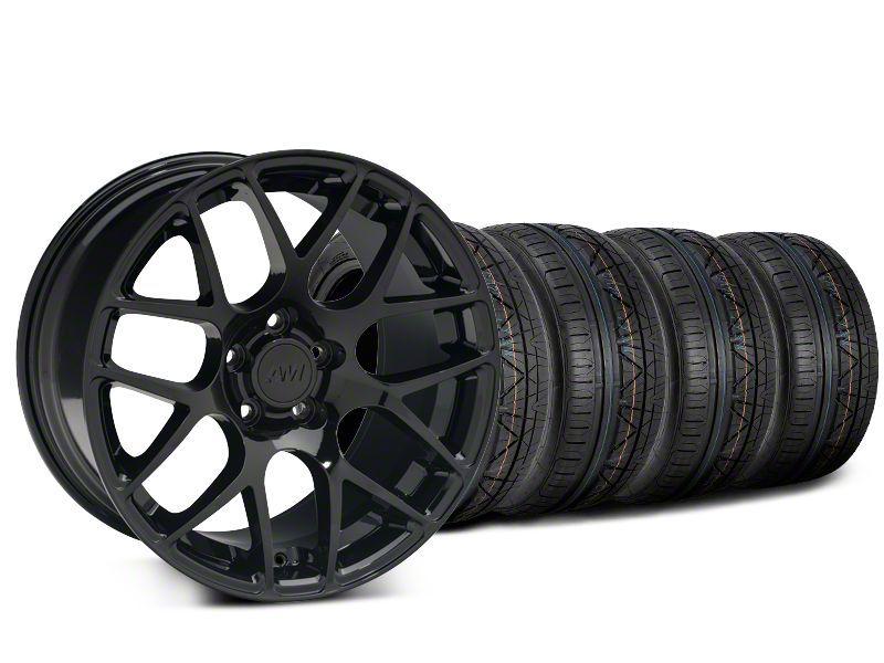 AMR Black Wheel & NITTO INVO Tire Kit - 19x8.5 (15-19 GT, EcoBoost, V6)
