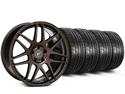Forgestar F14 Monoblock Bronze Burst Wheel & Mickey Thompson Tire Kit - 19x9 (15-19 All)