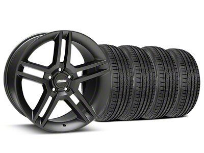 2010 GT500 Style Matte Black Wheel & Sumitomo Tire Kit - 19x8.5 (15-19 GT, EcoBoost, V6)