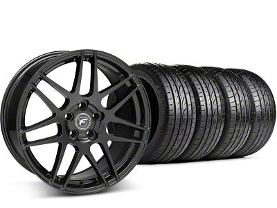 Forgestar F14 Monoblock Piano Black Wheel & Sumitomo Tire Kit - 19x9 (15-19 GT, EcoBoost, V6)