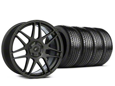 Forgestar F14 Monoblock Gunmetal Wheel & Pirelli Tire Kit - 19x9 (15-19 All)