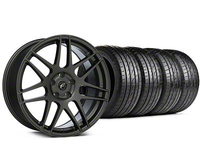 Staggered Forgestar F14 Gunmetal Wheel & Sumitomo Tire Kit - 19x9/10 (15-19 All)