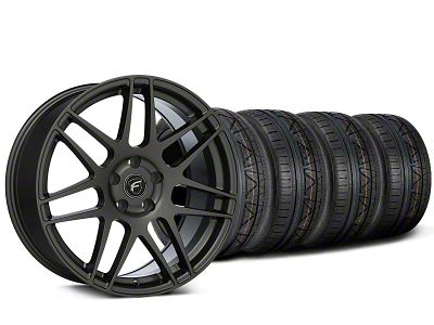 Forgestar F14 Monoblock Gunmetal Wheel & NITTO INVO Tire Kit - 19x9 (15-19 All)