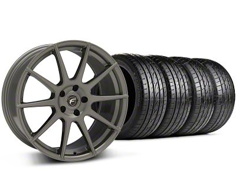 Forgestar CF10 Monoblock Gunmetal Wheel & Sumitomo Tire Kit - 19x9 (15-19 GT, EcoBoost, V6)