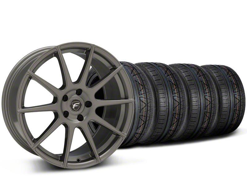 Forgestar CF10 Monoblock Gunmetal Wheel & NITTO INVO Tire Kit - 19x9 (15-19 GT, EcoBoost, V6)