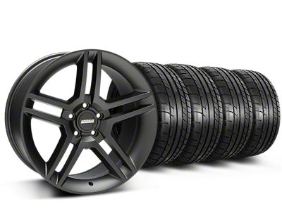 2010 GT500 Style Matte Black Wheel & Mickey Thompson Tire Kit - 19x8.5 (15-19 All)