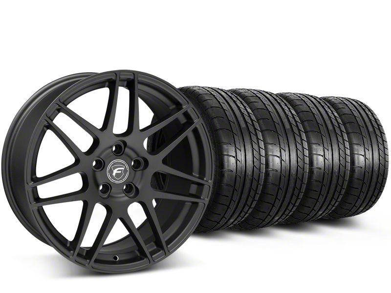 Forgestar F14 Monoblock Matte Black Wheel & Mickey Thompson Tire Kit - 19x9 (15-19 GT, EcoBoost, V6)