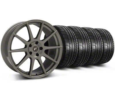 Forgestar CF10 Monoblock Gunmetal Wheel & Mickey Thompson Tire Kit - 19x9 (15-19 GT, EcoBoost, V6)