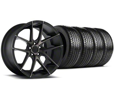 Niche Targa Black Wheel & Pirelli Tire Kit - 19x8.5 (15-19 All)
