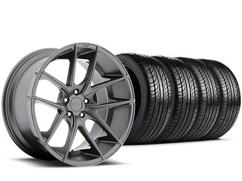 Staggered Niche Targa Anthracite Wheel & Pirelli Tire Kit - 19x8.50/9.5 (15-19 All)