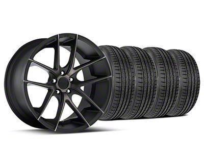 Staggered Niche Targa Black Wheel & Sumitomo Tire Kit - 19x8.5/9.5 (15-19 All)