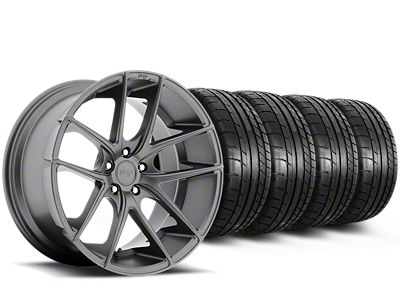 Staggered Niche Targa Anthracite Wheel & Mickey Thompson Tire Kit - 19x8.50/9.5 (15-19 All)