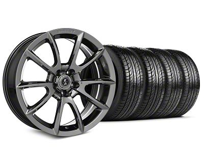 Staggered Shelby Super Snake Style Chrome Wheel & Pirelli Tire Kit - 19x8.5/10 (15-19 All)
