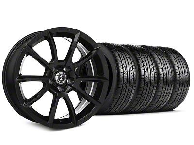 Staggered Shelby Super Snake Style Black Wheel & Sumitomo Tire Kit - 19x8.5/10 (15-19 All)