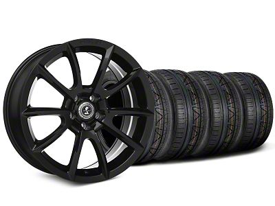 Staggered Shelby Super Snake Style Black Wheel & NITTO INVO Tire Kit - 19x8.5/10 (15-19 All)