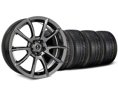Staggered Shelby Super Snake Style Chrome Wheel & NITTO INVO Tire Kit - 19x8.5/10 (15-19 All)