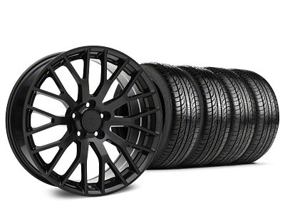 Performance Pack Style Black Wheel & Pirelli Tire Kit - 19x8.5 (15-19 GT, EcoBoost, V6)