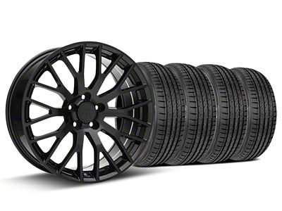Performance Pack Style Black Wheel & Sumitomo Tire Kit - 19x8.5 (15-19 GT, EcoBoost, V6)