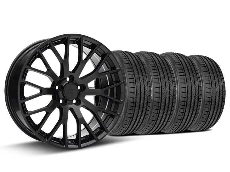 Performance Pack Style Black Wheel & Sumitomo Tire Kit - 19x8.5 (15-19 GT, EcoBoost, V6)