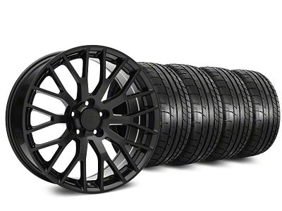 Performance Pack Style Black Wheel & Mickey Thompson Tire Kit - 19x8.5 (15-19 GT, EcoBoost, V6)