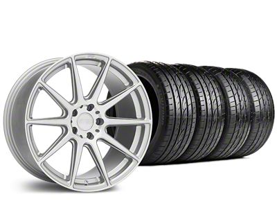 Staggered Niche Essen Silver Wheel & Sumitomo Tire Kit - 19x8.5/10 (15-19 All)