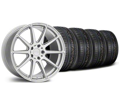 Staggered Niche Essen Silver Wheel & NITTO INVO Tire Kit - 19x8.5/10 (15-19 All)