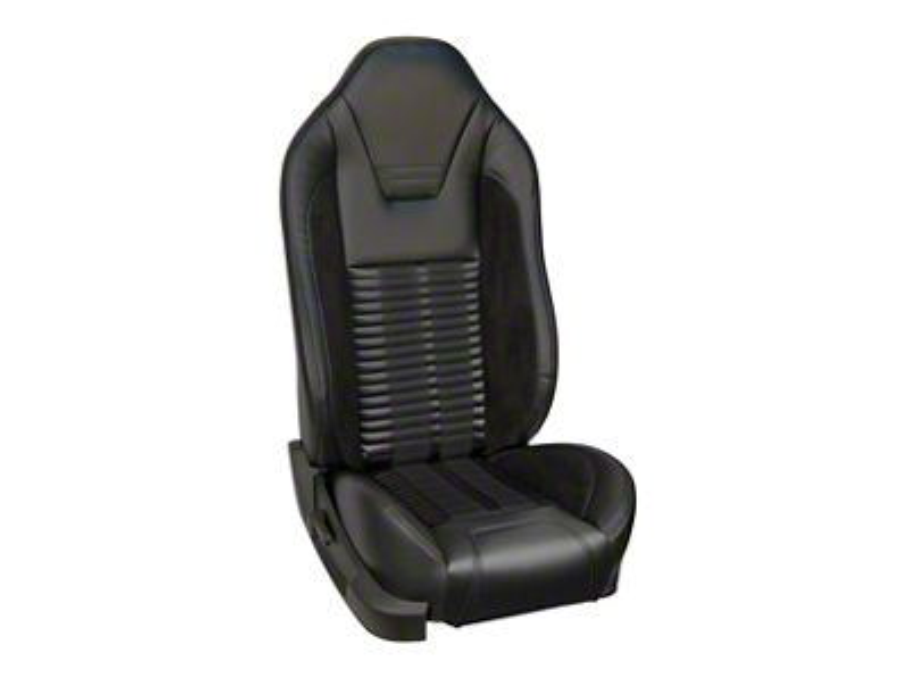 TMI Premium Sport R500 Upholstery & Foam Kit for Airbag Equipped Seats - Black Vinyl & Black Stripe/Stitch (13-14 GT)