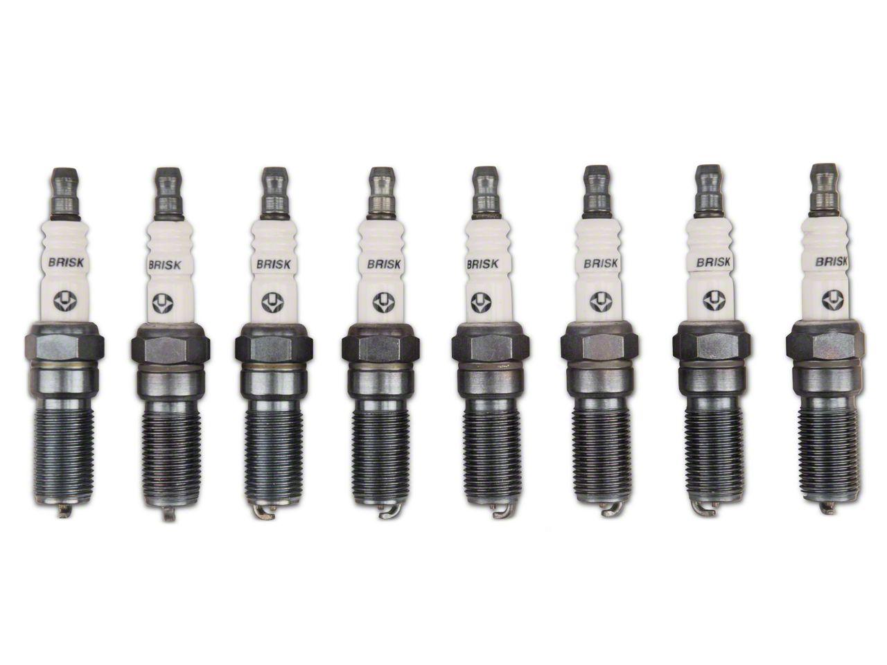 Brisk Silver Racing Spark Plugs - Mild Boost (11-17 GT; 12-13 BOSS 302)