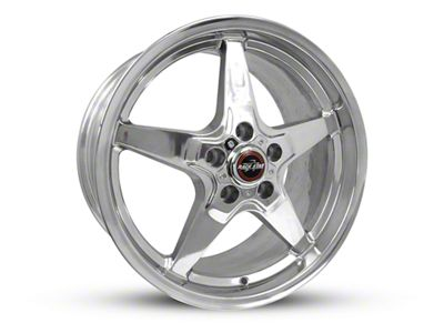 Race Star Drag Star Polished Wheel - Direct Drill - 18x10.5 - Rear Only (15-19 GT, EcoBoost, V6)