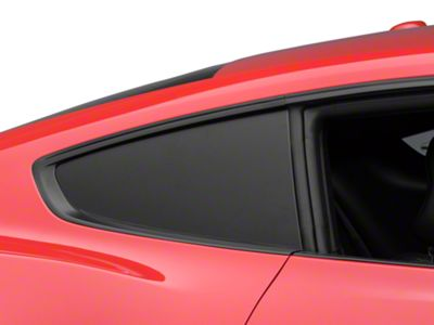 American Muscle Graphics Matte Black Quarter Window Blackout (15-19 Fastback)