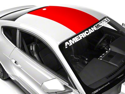 American Muscle Graphics Roof Panel Decal - Red (15-19 All)