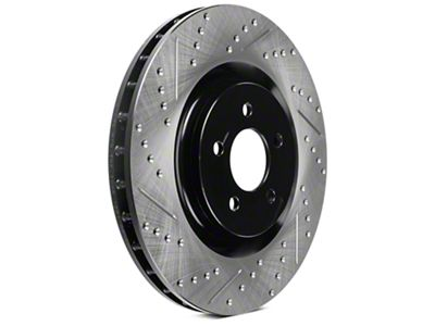 StopTech Sport Cross-Drilled & Slotted Rotors - Front Pair (11-14 GT Brembo; 12-13 BOSS 302; 07-12 GT500)