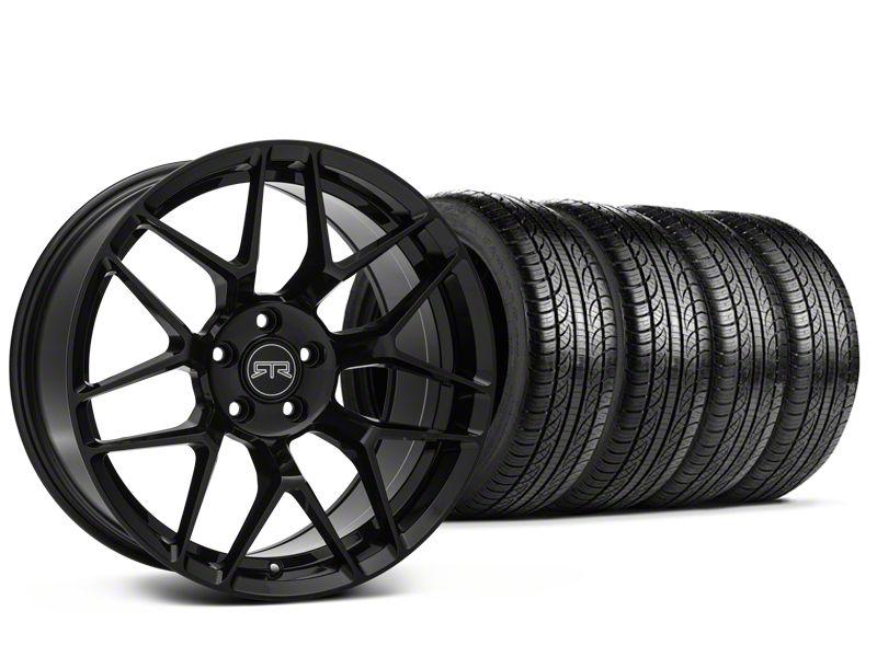 RTR Tech 7 Black Wheel & Pirelli Tire Kit - 19x9.5 (15-19 GT, EcoBoost, V6)