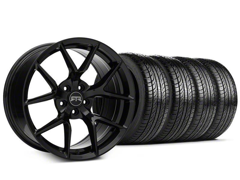 RTR Tech 5 Black Wheel & Pirelli Tire Kit - 19x9.5 (15-19 GT, EcoBoost, V6)