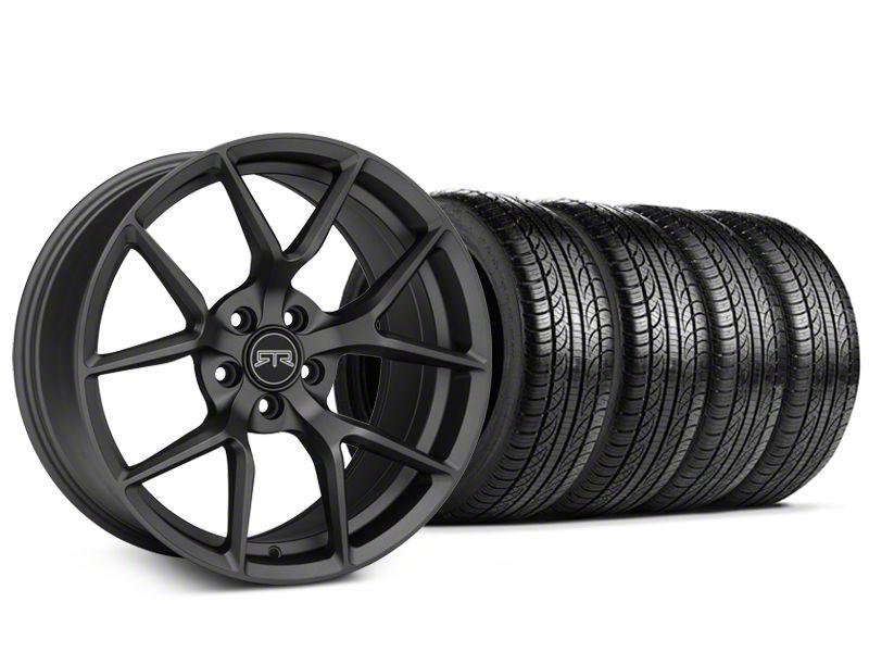 RTR Tech 5 Charcoal Wheel & Pirelli Tire Kit - 19x9.5 (15-19 GT, EcoBoost, V6)