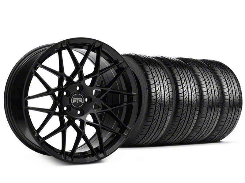 RTR Tech Mesh Black Wheel & Pirelli Tire Kit - 19x9.5 (15-19 GT, EcoBoost, V6)