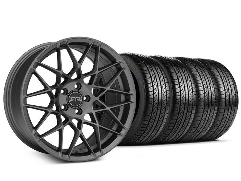 RTR Tech Mesh Charcoal Wheel & Pirelli Tire Kit - 19x9.5 (15-19 GT, EcoBoost, V6)