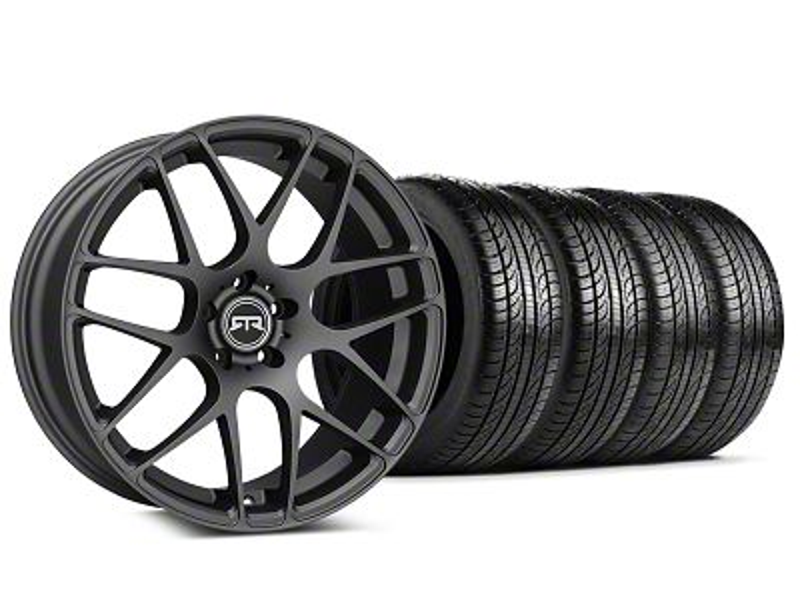 RTR Charcoal Wheel & Pirelli Tire Kit - 19x8.5 (15-19 GT, EcoBoost, V6)