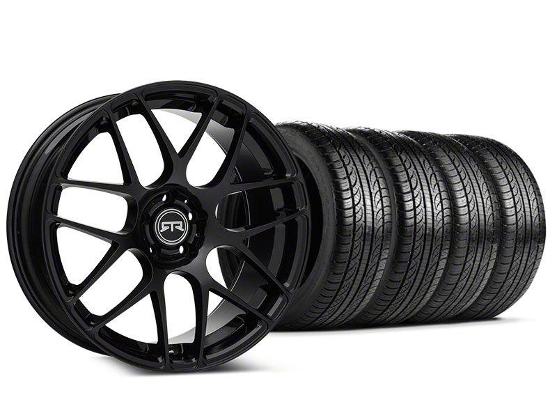 RTR Black Wheel & Pirelli Tire Kit - 19x8.5 (15-19 GT, EcoBoost, V6)