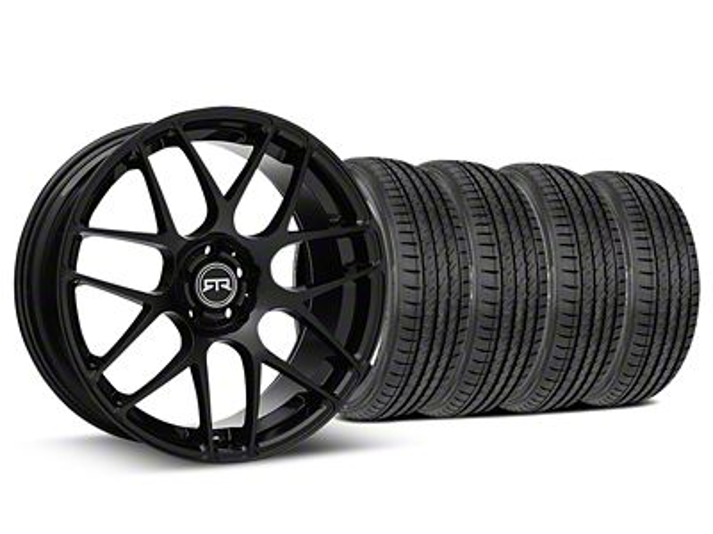 RTR Black Wheel & Sumitomo Tire Kit - 19x8.5 (15-19 GT, EcoBoost, V6)