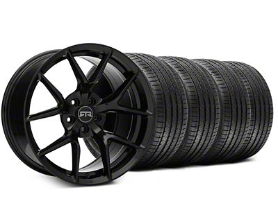 RTR Tech 5 Black Wheel & Sumitomo Tire Kit - 20x9.5 (15-19 GT, EcoBoost, V6)