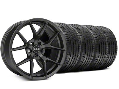 RTR Tech 5 Charcoal Wheel & Sumitomo Tire Kit - 20x9.5 (15-19 GT, EcoBoost, V6)