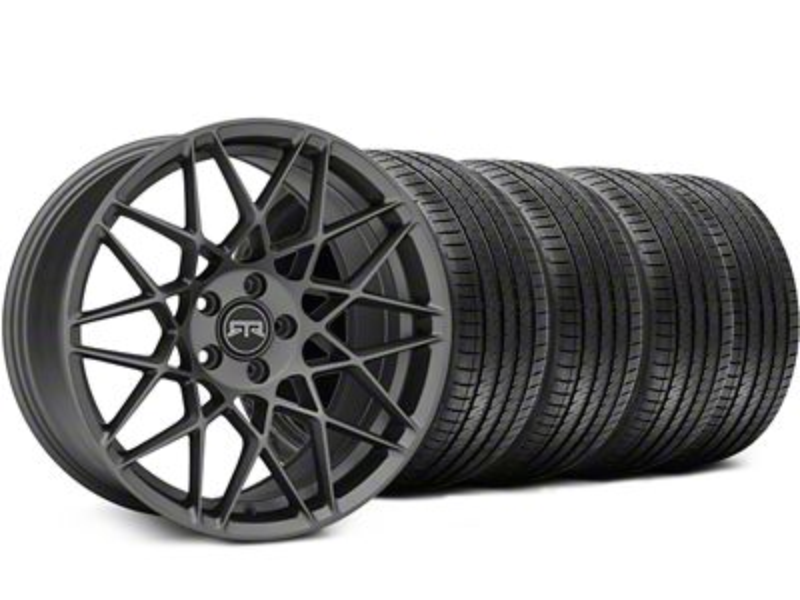 RTR Tech Mesh Charcoal Wheel & Sumitomo Tire Kit - 20x9.5 (15-19 GT, EcoBoost, V6)