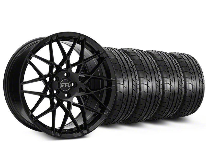 Staggered RTR Tech Mesh Black Wheel & Mickey Thompson Tire Kit - 19x9.5/10.5 (05-14 All)