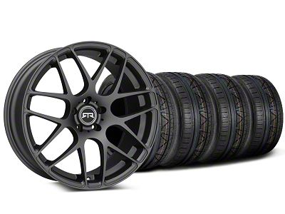 Staggered RTR Charcoal Wheel & NITTO INVO Tire Kit - 19x8.5/10 (15-19 GT, EcoBoost, V6)