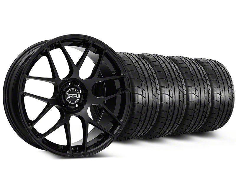 Staggered RTR Black Wheel & Mickey Thompson Tire Kit - 19x8.5/10 (15-19 GT, EcoBoost, V6)