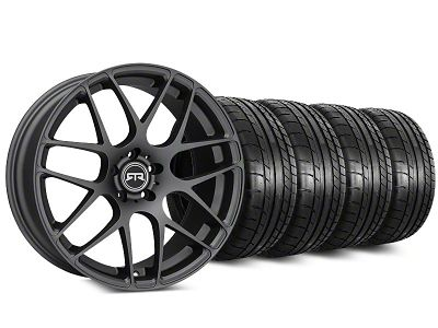 Staggered RTR Charcoal Wheel & Mickey Thompson Tire Kit - 20 in. - 2 Rear Options (15-19 All)