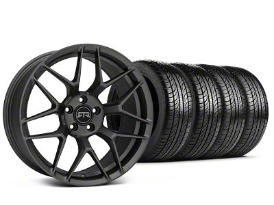 Staggered RTR Tech 7 Charcoal Wheel & Pirelli Tire Kit - 19x9.5/10.5 (15-19 GT, EcoBoost, V6)