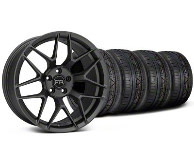 Staggered RTR Tech 7 Charcoal Wheel & NITTO INVO Tire Kit - 19x9.5/10.5 (15-19 GT, EcoBoost, V6)