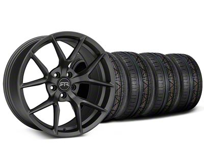 Staggered RTR Tech 5 Charcoal Wheel & NITTO INVO Tire Kit - 19x9.5/10.5 (15-19 GT, EcoBoost, V6)